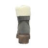 Šedá dámska kožená zimná obuv so zateplením weinbrenner, šedá, 696-2168 - 16