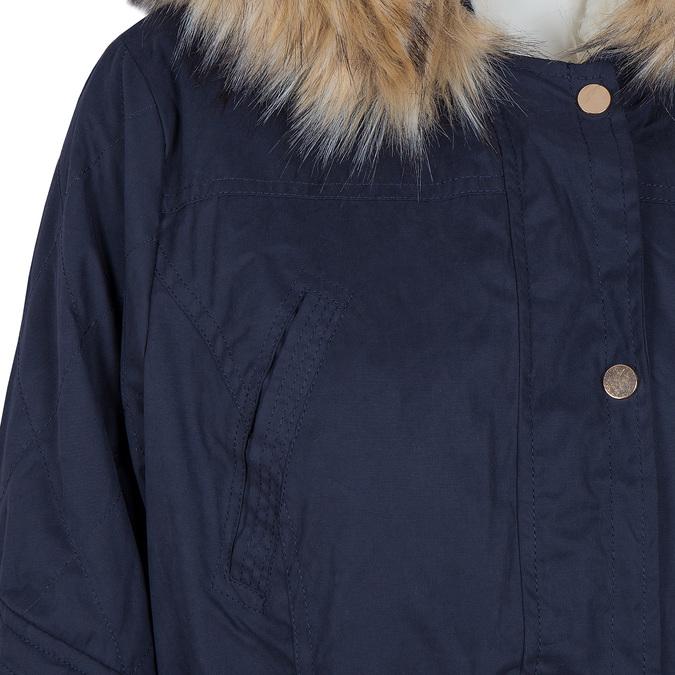 Dámská bunda s vymeniteľným kožúškom bata, modrá, 979-9131 - 16