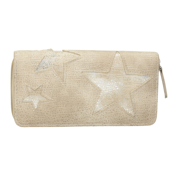 Dámska peňaženka s hviezdami bata, béžová, 941-2154 - 26