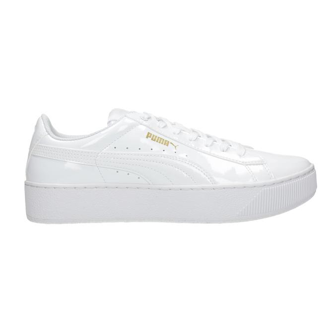 Biele dámske tenisky na flatforme puma, biela, 501-1159 - 26