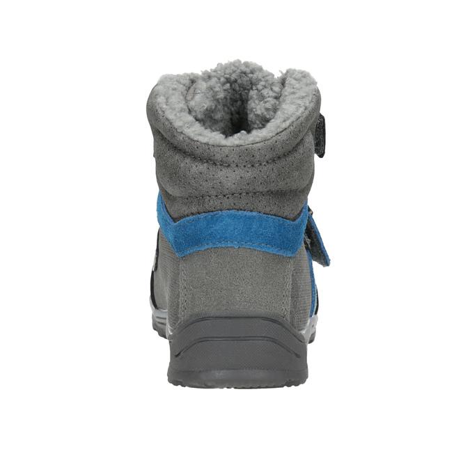 Detská zimná obuv mini-b, šedá, 291-2627 - 16