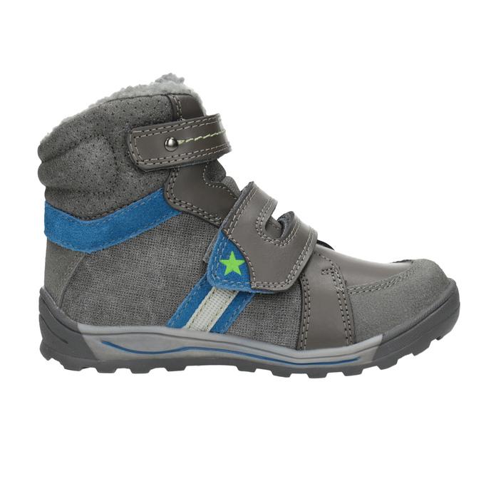 Detská zimná obuv mini-b, šedá, 291-2627 - 26