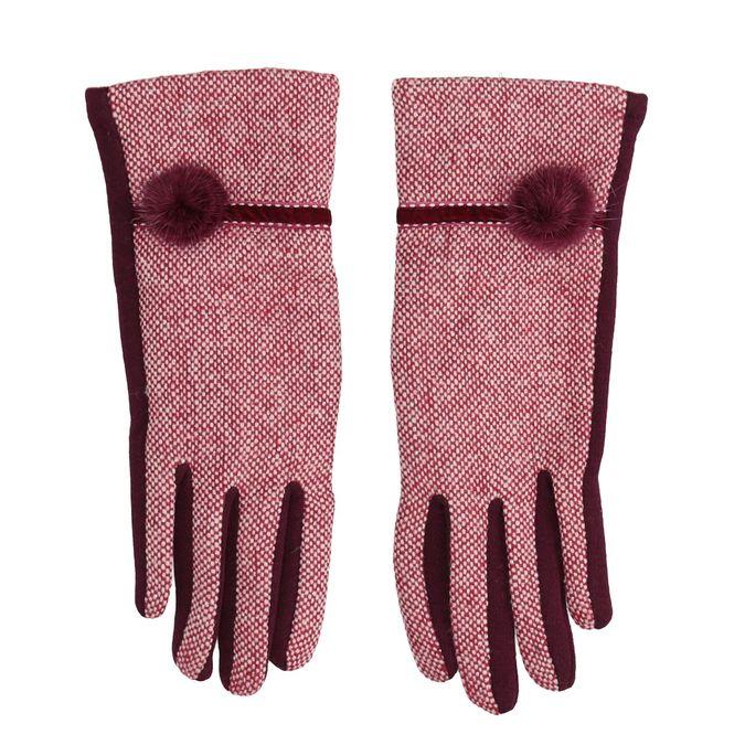 Dámske rukavice s bambuľkou bata, červená, 909-5614 - 26