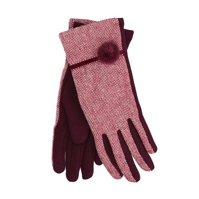 Dámske rukavice s bambuľkou bata, červená, 909-5614 - 13