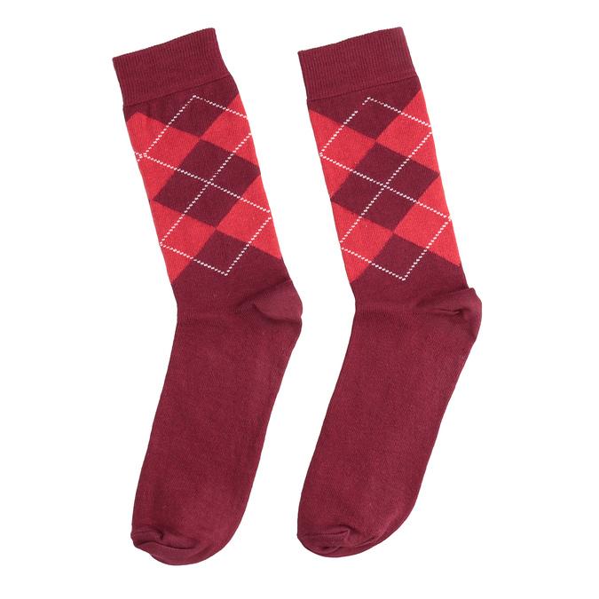 Pánske ponožky s anglickým vzorom bata, červená, 919-5300 - 26