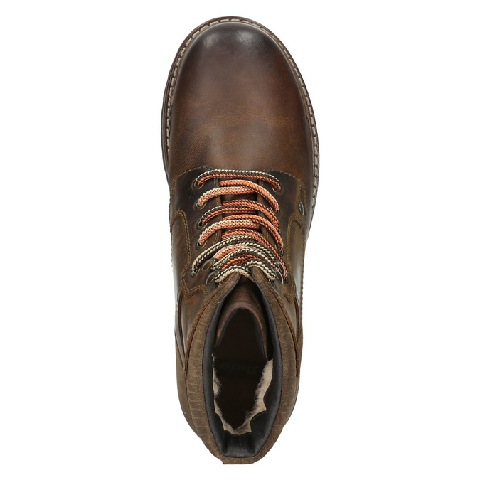 Kožená členková zimná obuv bata, hnedá, 896-4661 - 26