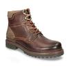 Kožená členková zimná obuv bata, hnedá, 896-4661 - 13