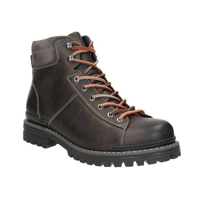 Kožená členková zimná obuv bata, šedá, 896-2660 - 13