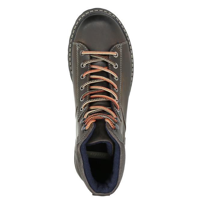 Kožená členková zimná obuv bata, šedá, 896-2660 - 26