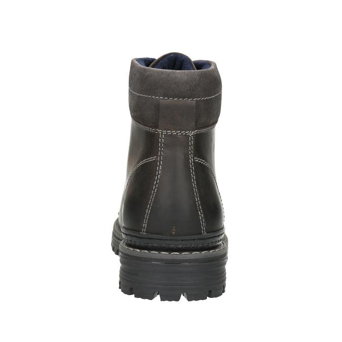 Kožená členková zimná obuv bata, šedá, 896-2660 - 17