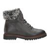 Kožená zimná obuv s kožúškom bata, šedá, 594-6650 - 16