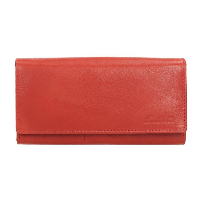 Dámska červená peňaženka z kože bata, červená, 944-3203 - 26