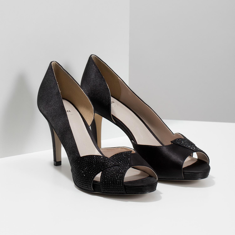 c34fe3678089 Baťa Čierne lodičky s kamienkami - Party shoes   bags