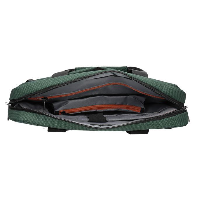 Textilná taška na notebook samsonite, zelená, 969-7681 - 15