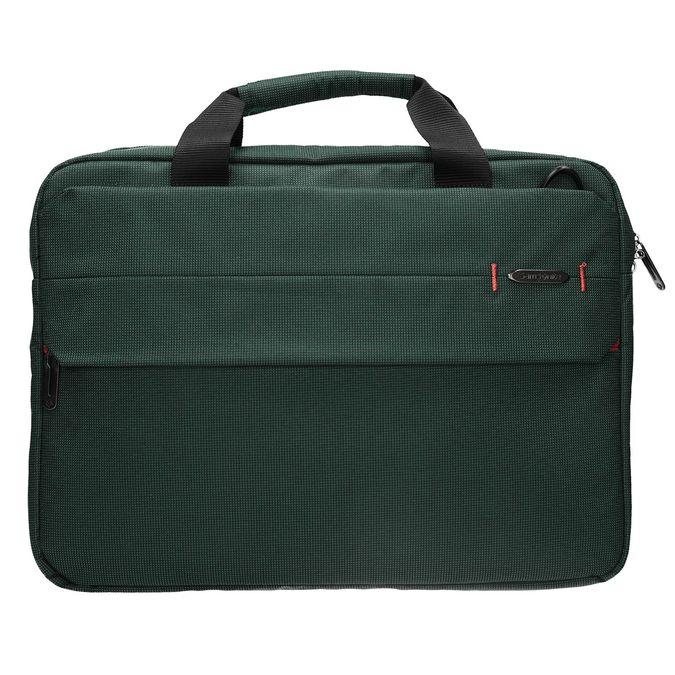 Textilná taška na notebook samsonite, zelená, 969-7681 - 26