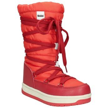 Červené dámske snehule bata, červená, 599-5616 - 13