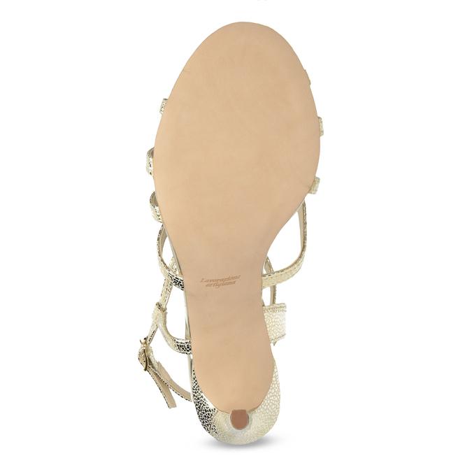 Zlaté spoločenské sandále z kože bata, 726-8648 - 18