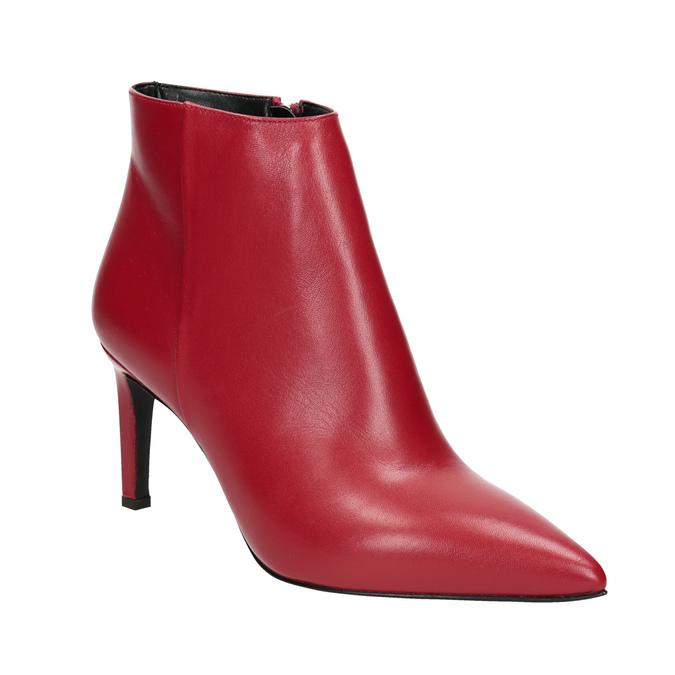 Baťa Kožené členkové čižmy červené - Najpredávanejšie  104461d918b