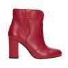 Červené členkové čižmy z kože bata, červená, 794-5652 - 16