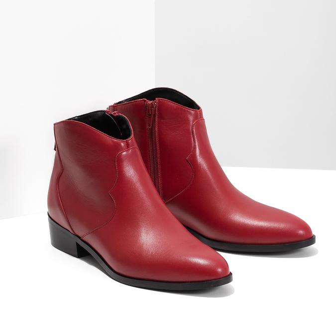 Červená členková obuv bata, červená, 594-5665 - 26