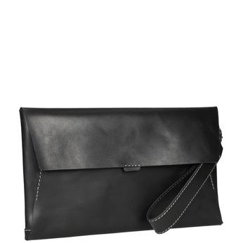 Čierna kožená listová kabelka bata, čierna, 966-6285 - 13