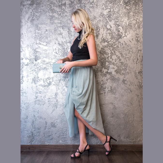 Dámske spoločenské sandále s kamienkami bata, čierna, 729-6611 - 19