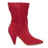 Červené kožené čižmy do špičky bata, červená, 793-5612 - 19