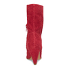 Červené kožené čižmy do špičky bata, červená, 793-5612 - 15