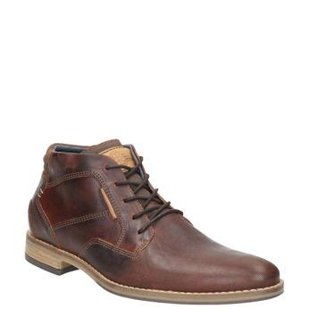 Pánska kožená členková obuv bata, hnedá, 826-3926 - 13