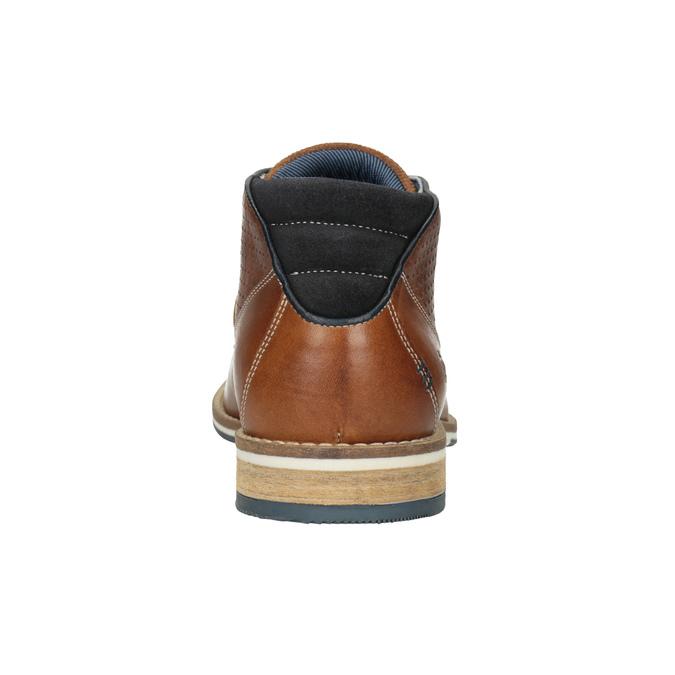Pánska kožená členková obuv bata, hnedá, 826-3925 - 16