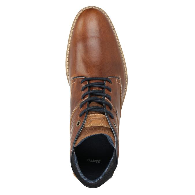 Pánska kožená členková obuv bata, hnedá, 826-3925 - 15