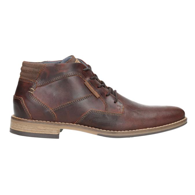 Pánska kožená členková obuv bata, hnedá, 826-3926 - 26