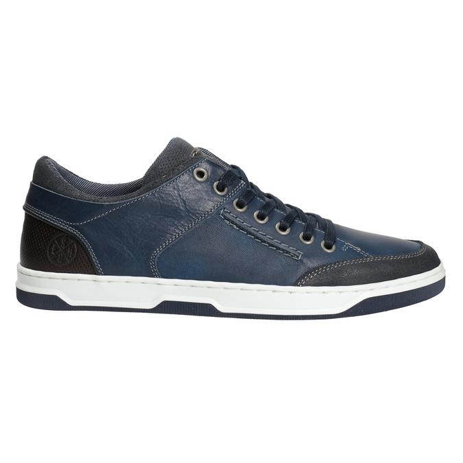 Modré kožené tenisky bata, modrá, 846-9927 - 26