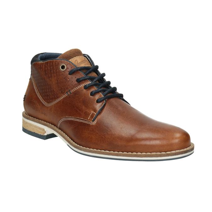 Pánska kožená členková obuv bata, hnedá, 826-3925 - 13