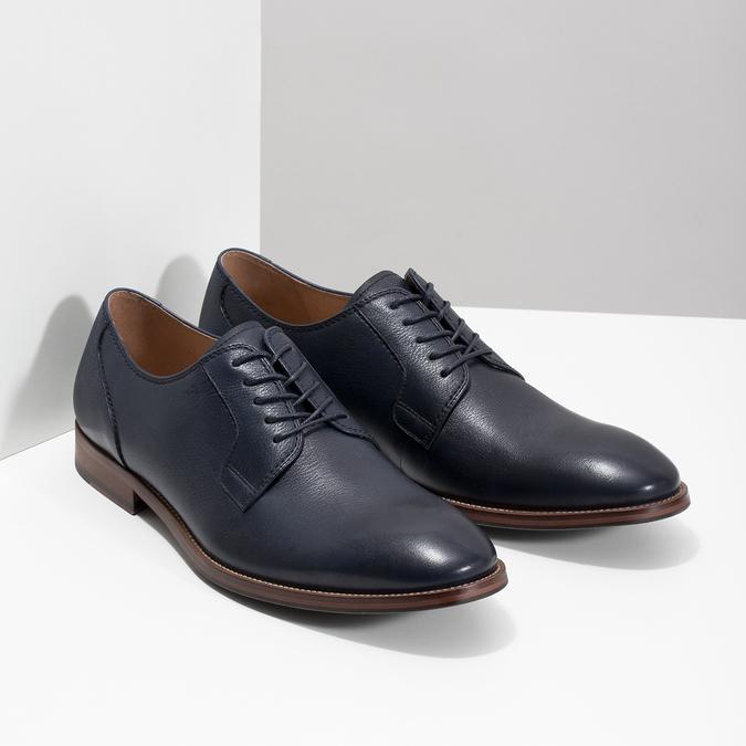 Modré kožené poltopánky bata, modrá, 826-9997 - 26