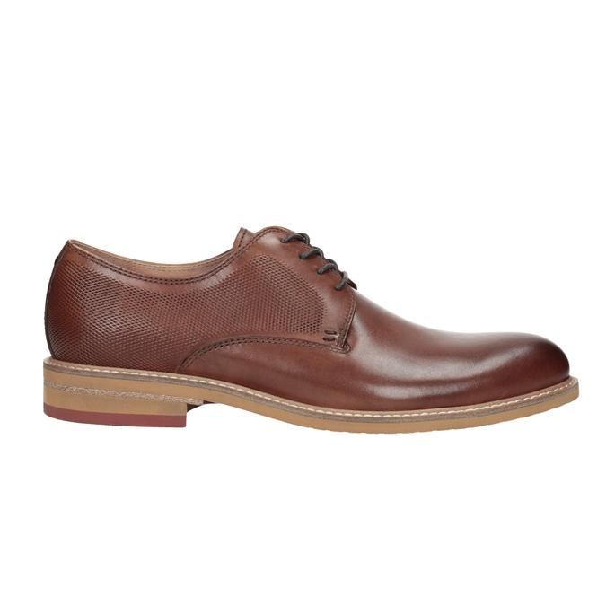 Kožené ležérne poltopánky hnedé bata, hnedá, 826-3853 - 26