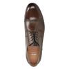 Hnedé kožené Derby poltopánky bata, hnedá, 826-3863 - 15