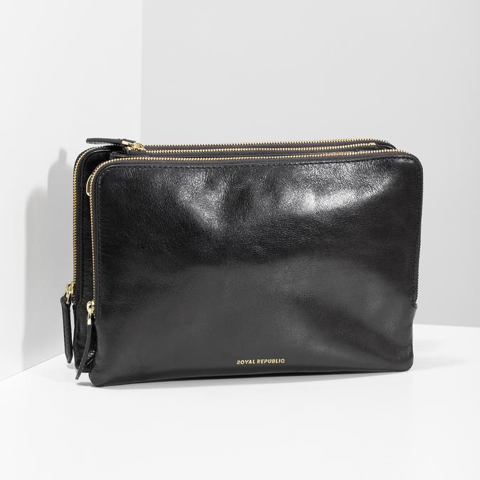 Kožená Crossbody kabelka so zipsom royal-republiq, čierna, 964-6082 - 17