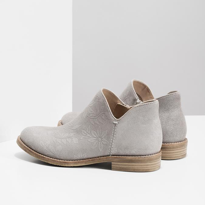 Členkové dámske čižmy bata, šedá, 596-2685 - 16