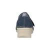 Kožené baleríny na klinovom podpätku bata, modrá, 626-9645 - 16