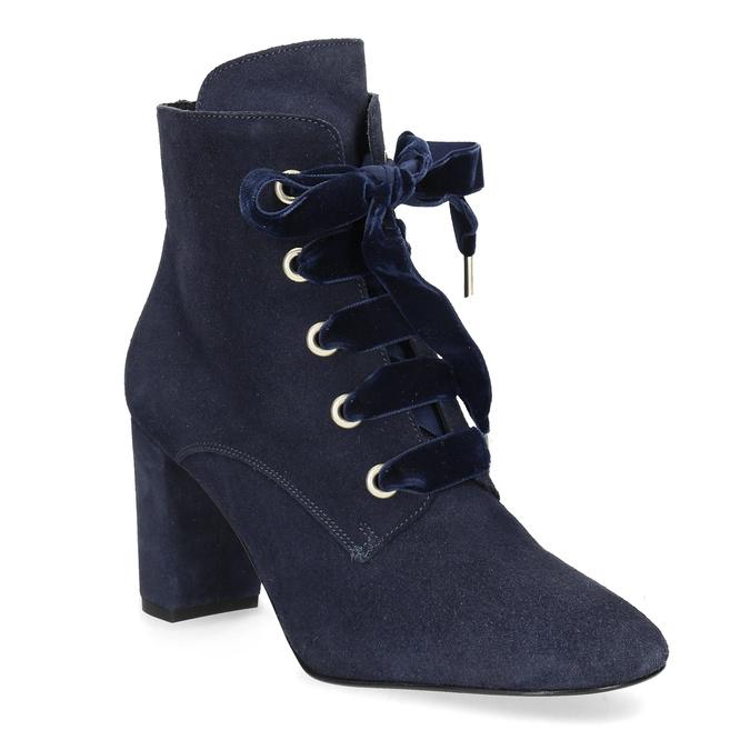 Členková kožená obuv s mašľou bata, 793-9613 - 13