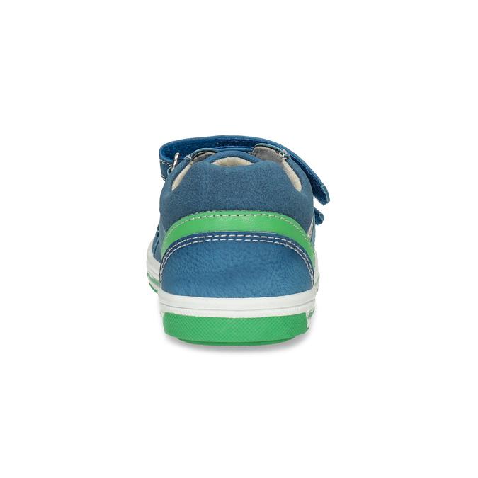 Modré detské tenisky so zeleným detailom bubblegummers, modrá, 111-9625 - 15