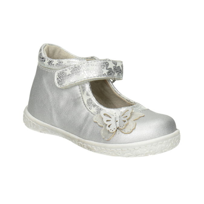 Strieborné dievčenské baleríny bubblegummers, šedá, 121-2620 - 13