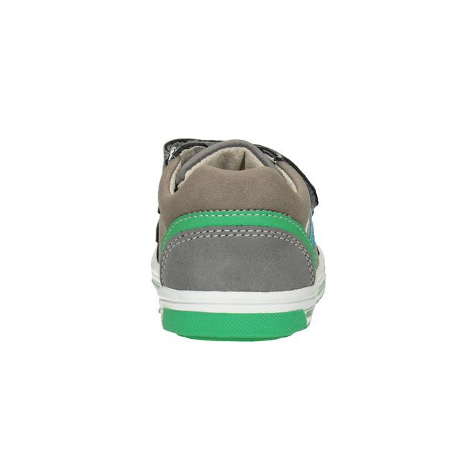 Detské tenisky na suchý zips bubblegummers, šedá, 111-2625 - 16