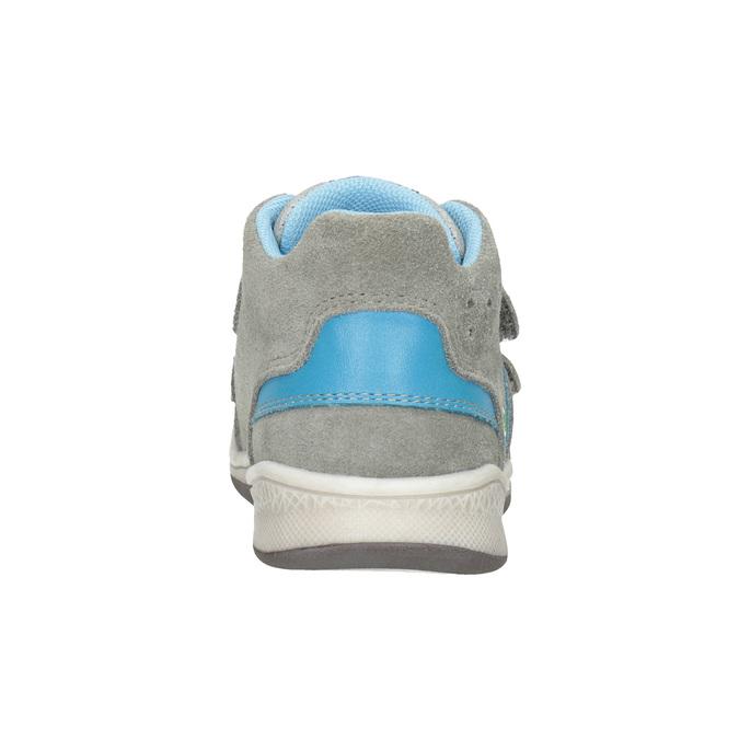 Kožená detská členková obuv bubblegummers, šedá, 113-2603 - 16