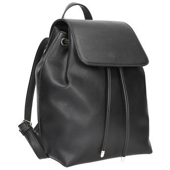 Čierny batoh s pútkom bata, čierna, 961-6858 - 13