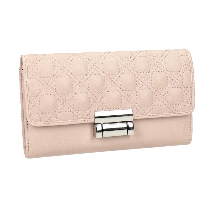 Ružová dámska peňaženka s prešitím bata, 941-9169 - 13