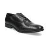 Čierne kožené Oxford poltopánky bata, čierna, 824-6944 - 13