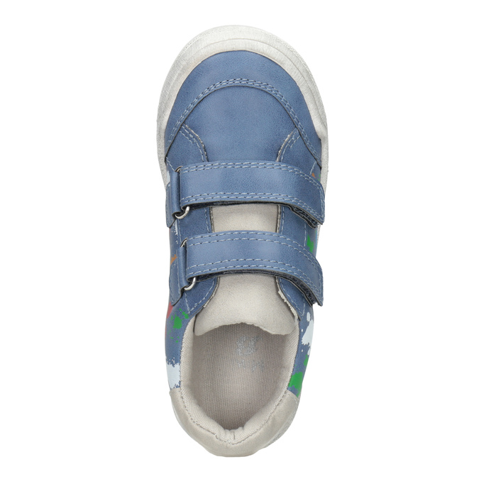 Modré tenisky s potlačou mini-b, modrá, 211-9218 - 15