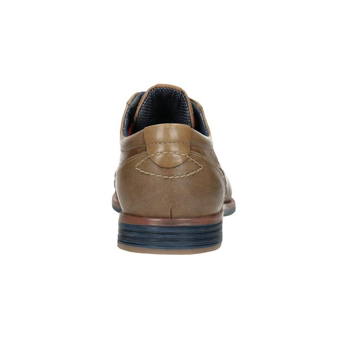 Kožené poltopánky s farebnými šnúrkami bata, hnedá, 826-4928 - 16